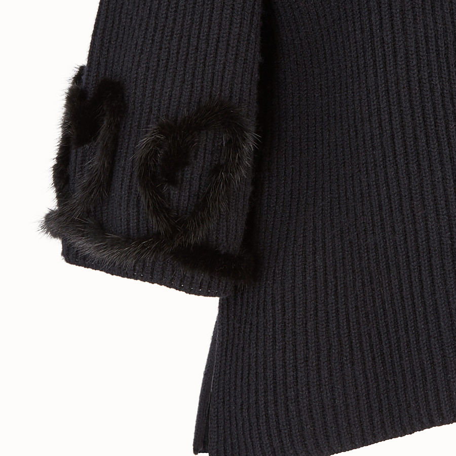FENDI PULLOVER - Black wool and cashmere jumper - view 3 detail