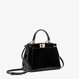 FENDI PEEKABOO ICONIC MINI - Black patent leather bag - view 3 thumbnail