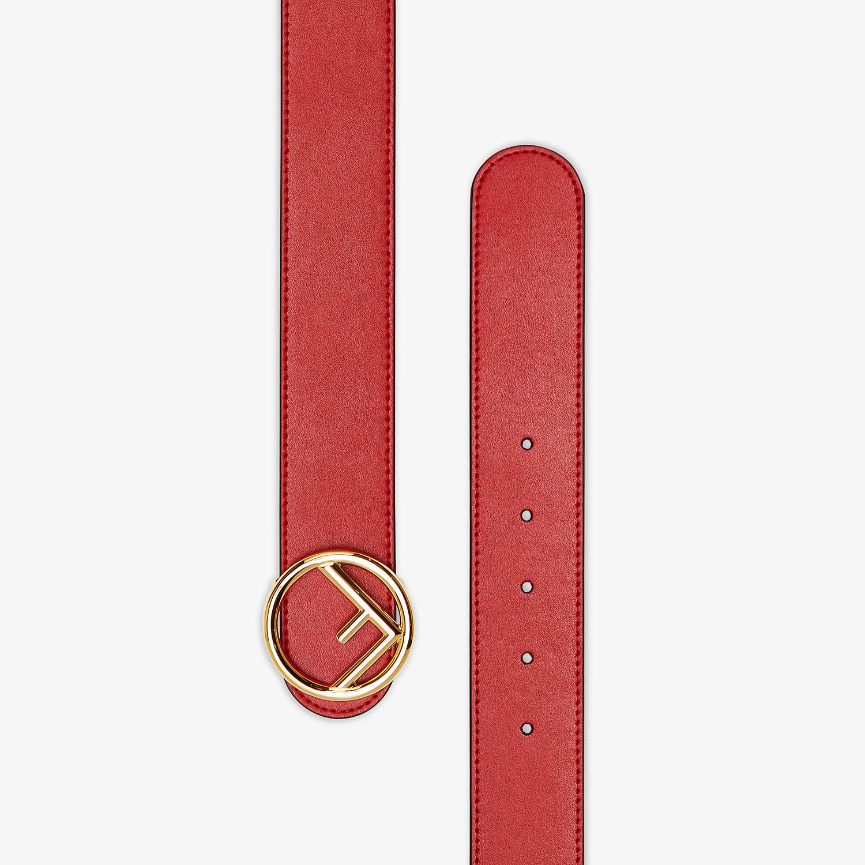 FENDI BELT - Red leather belt - view 2 detail
