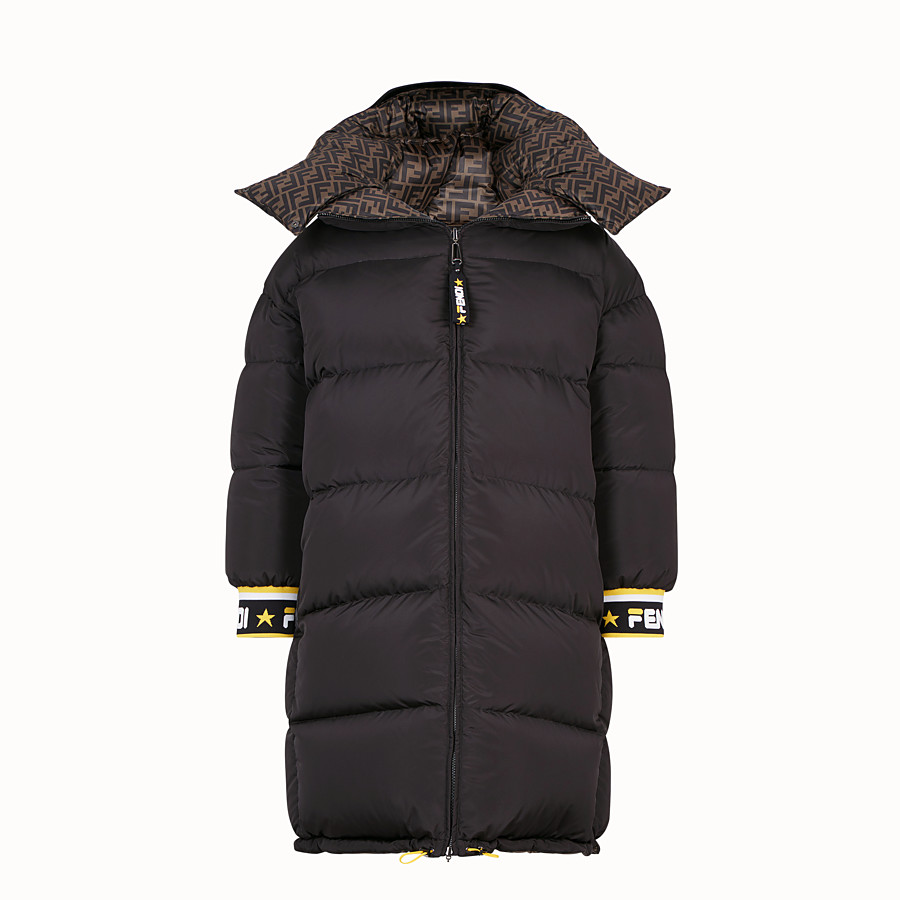 FENDI LONG DOWN JACKET - Multicolour padded down jacket - view 1 detail