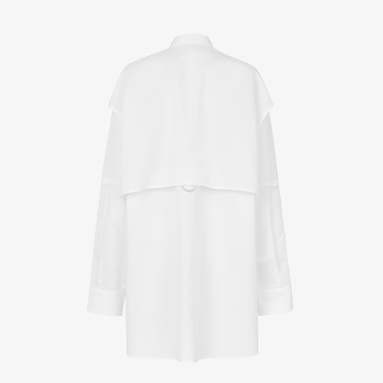 FENDI ドレス - ホワイトポプリン ドレス - view 2 detail