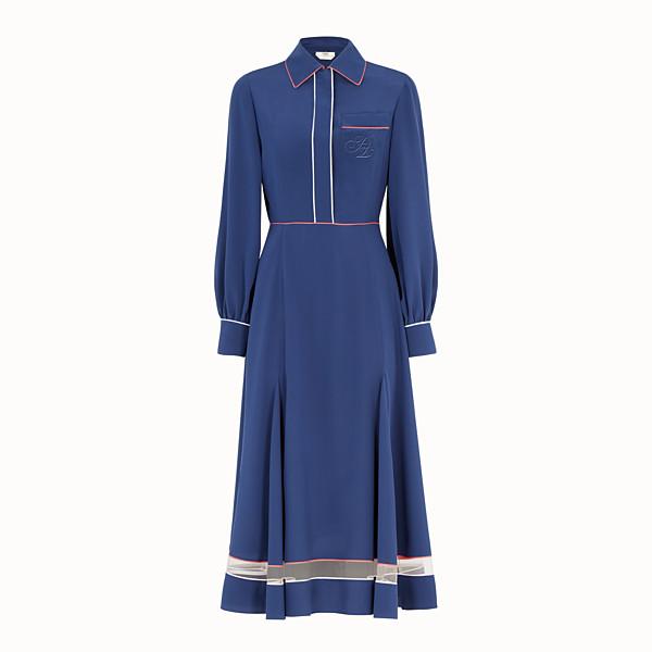 FENDI 드레스 - 블루 컬러의 실크 드레스 - view 1 small thumbnail