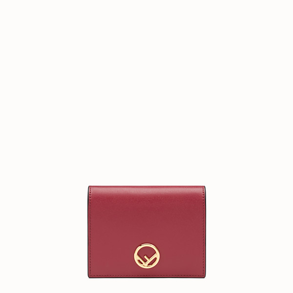 FENDI BIFOLD - Red compact leather wallet - view 1 small thumbnail