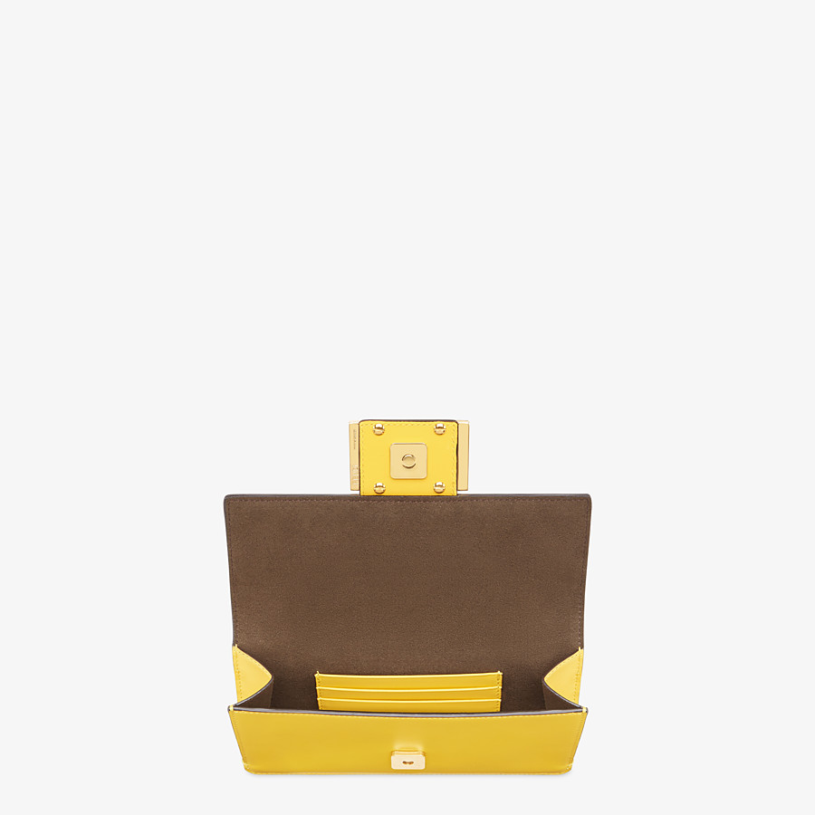 FENDI FLAT BAGUETTE - Yellow leather mini-bag - view 5 detail