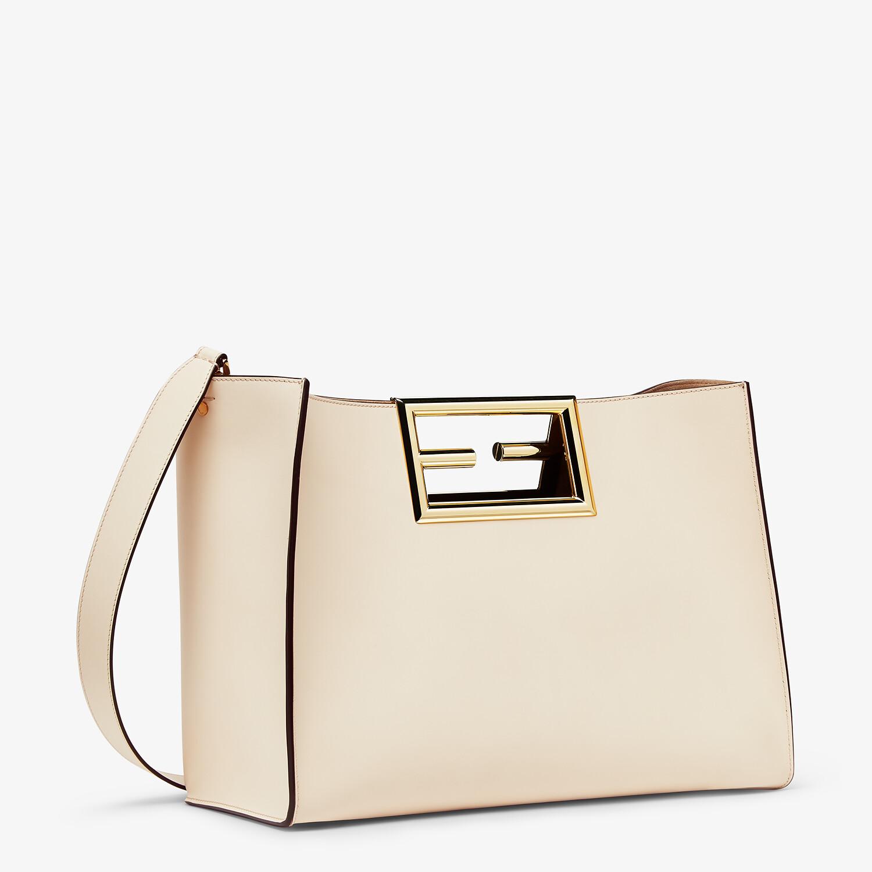 FENDI FENDI WAY MEDIUM - White leather bag - view 2 detail