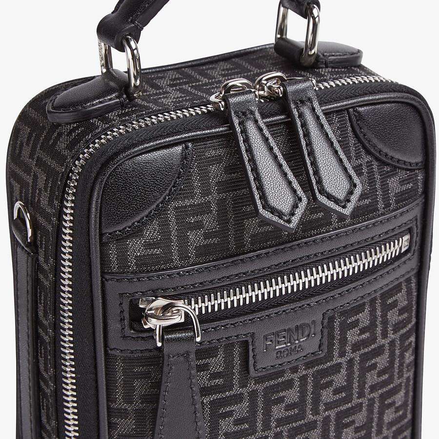 FENDI TRAVEL MINI BAG - FF jacquard fabric bag - view 5 detail