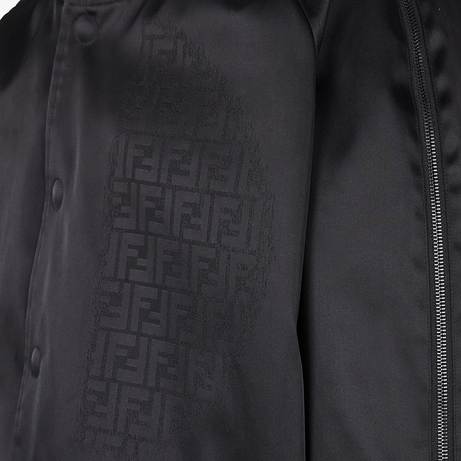 FENDI BOMBER - Black nylon bomber jacket - view 3 detail