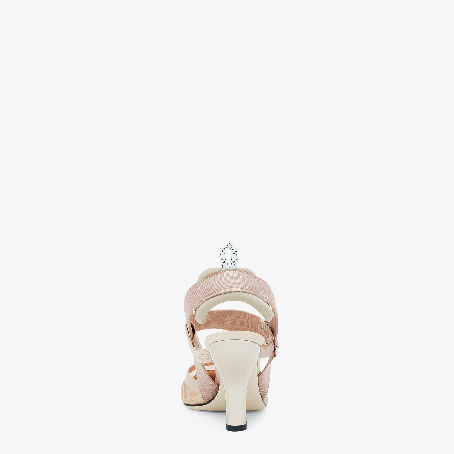 FENDI SLINGBACKS - Colibrì in pink mesh and nude leather - view 3 detail