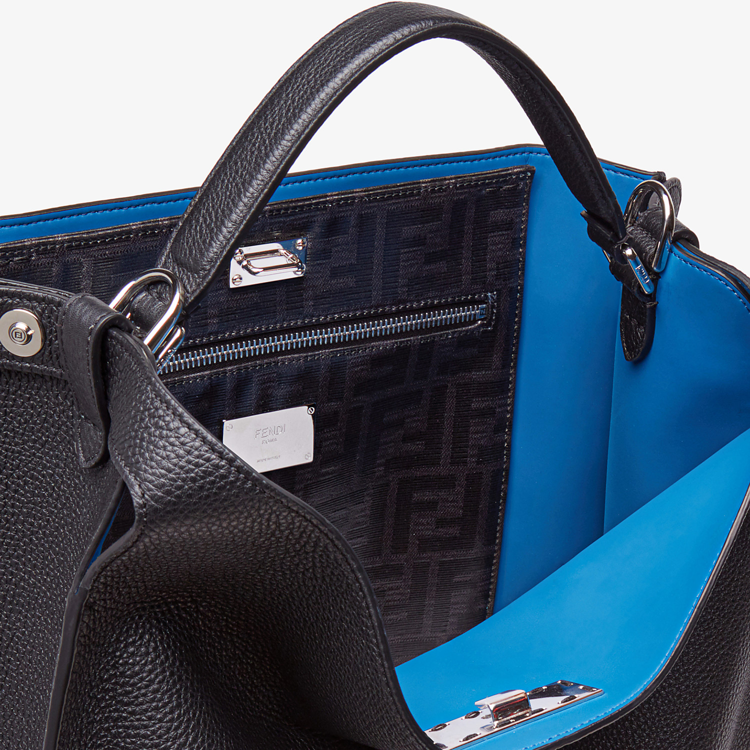FENDI PEEKABOO X-LITE FIT - Black, calf leather bag - view 6 detail