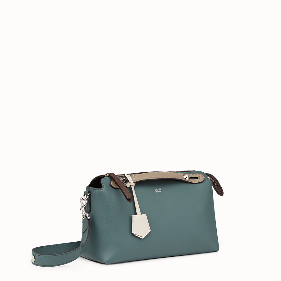 FENDI BY THE WAY REGULAR - Small green leather Boston bag - view 2 detail