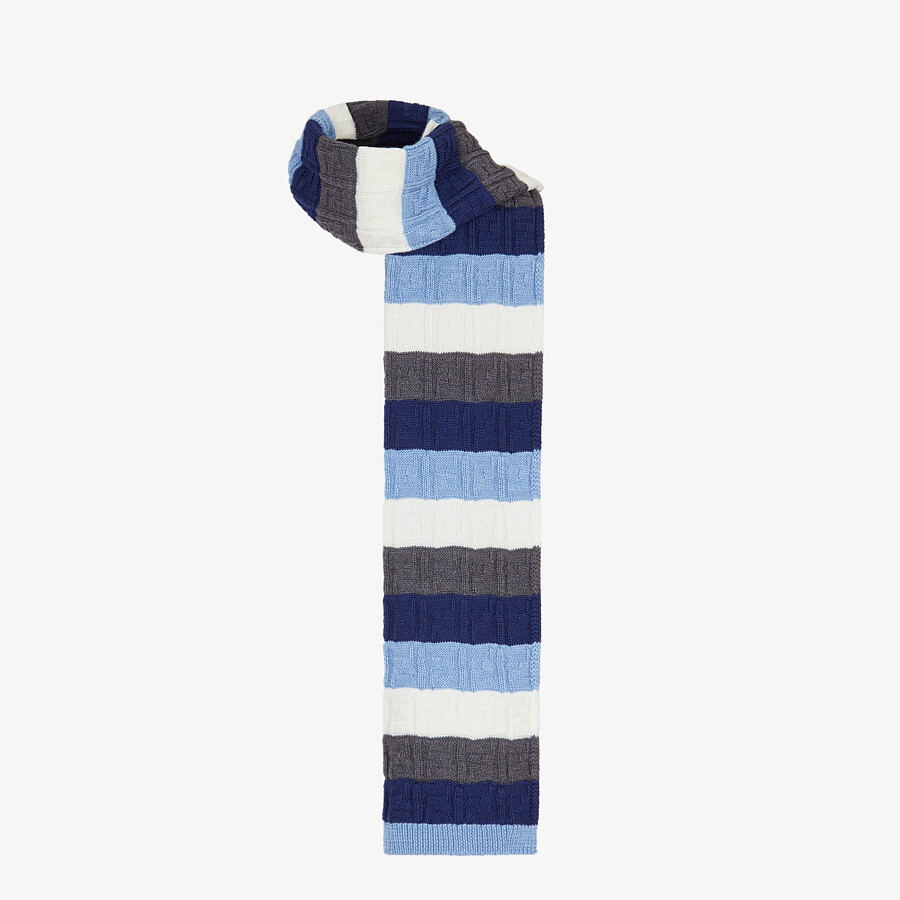 FENDI SCARF - Multicolor wool scarf - view 2 detail