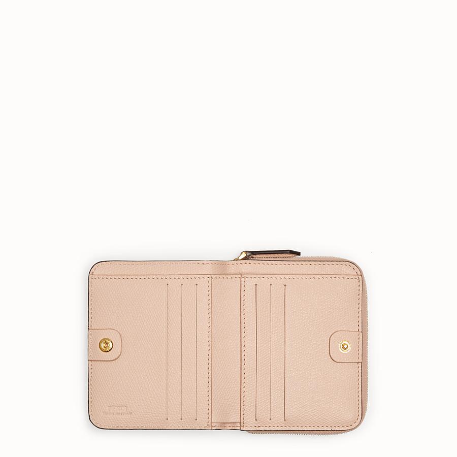 FENDI ZIP AROUND MEDIA - Portafoglio in pelle rosa - vista 4 dettaglio