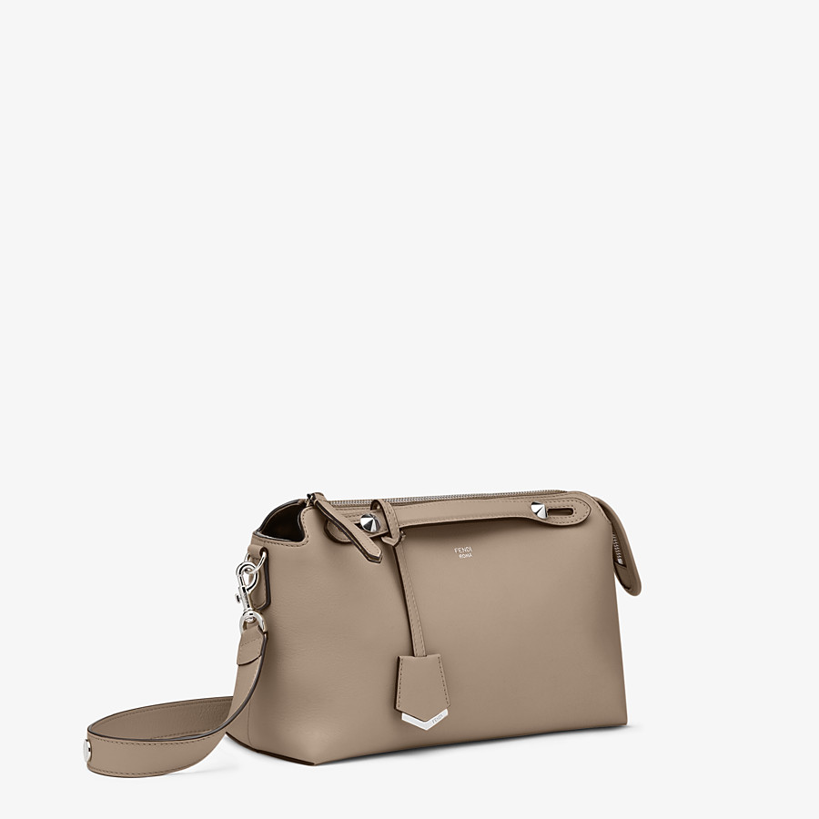 FENDI BY THE WAY MEDIUM - Small Boston bag in beige leather - view 3 detail