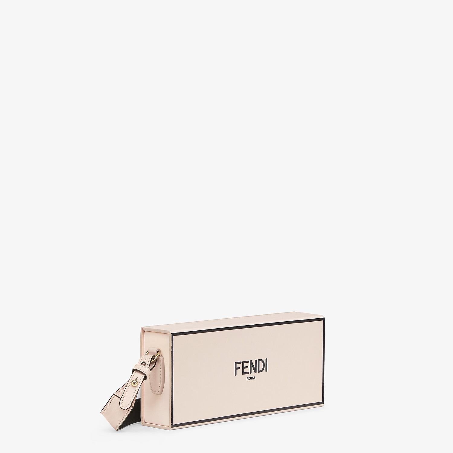 FENDI HORIZONTAL BOX - Pink leather bag - view 2 detail