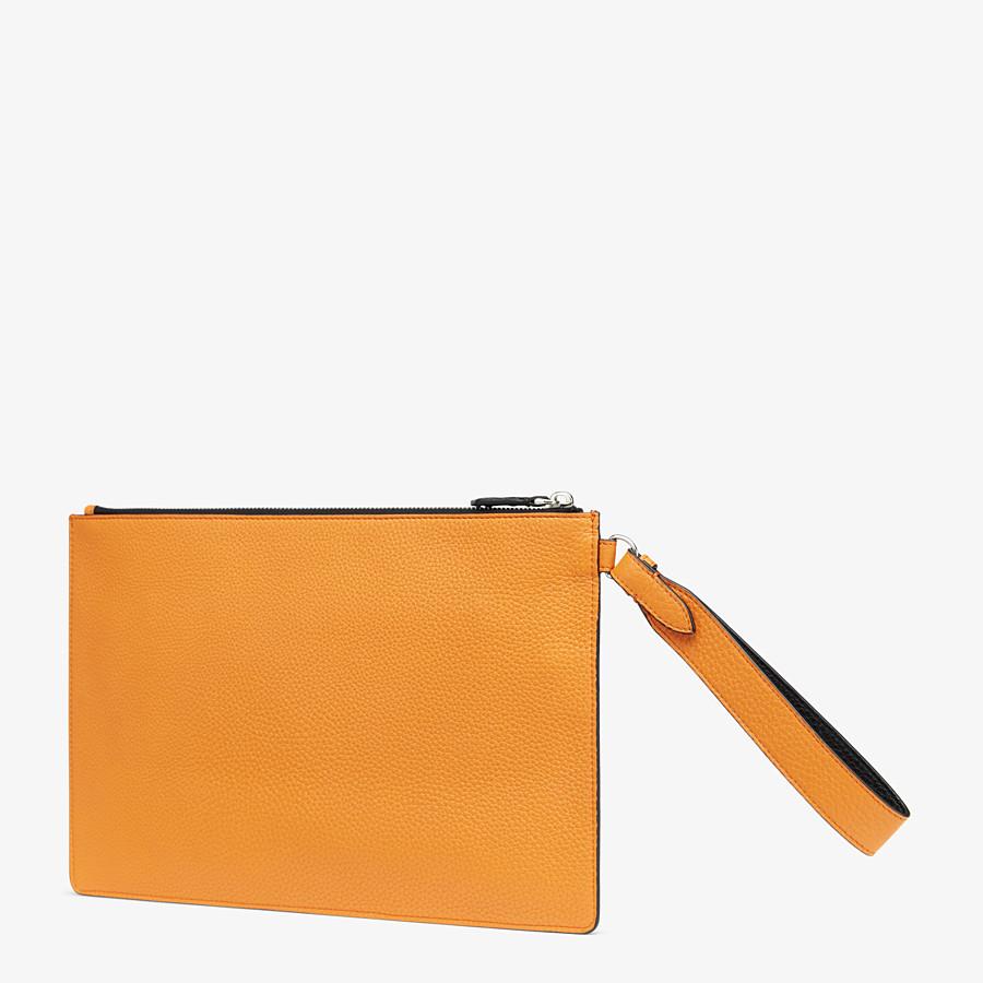 FENDI POUCH - Orange leather pochette - view 2 detail