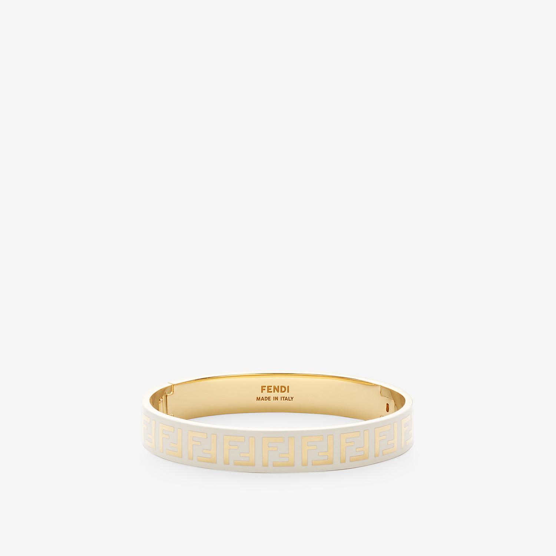 FENDI FF BRACELET - Gold and white coloured bracelet - view 1 detail