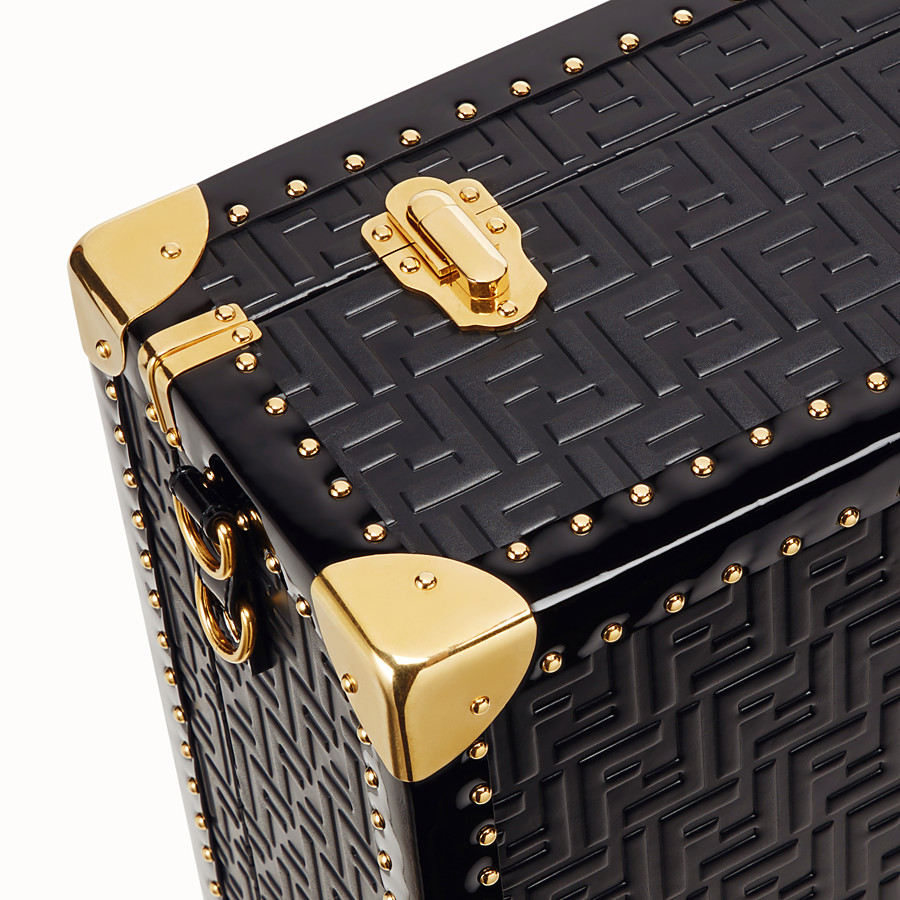 FENDI LARGE TRAVEL BAG - Black leather suitcase - view 5 detail