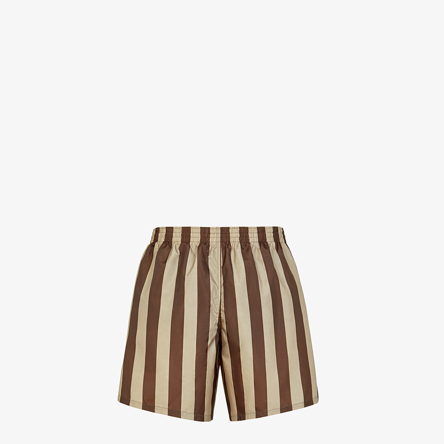 FENDI SWIM SHORTS - Multicolor tech fabric shorts - view 2 detail