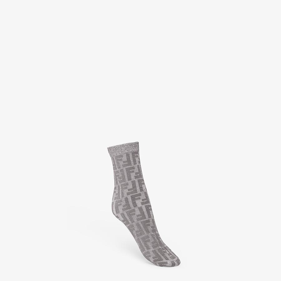 FENDI CHAUSSETTES - Chaussettes en nylon argent - view 1 detail