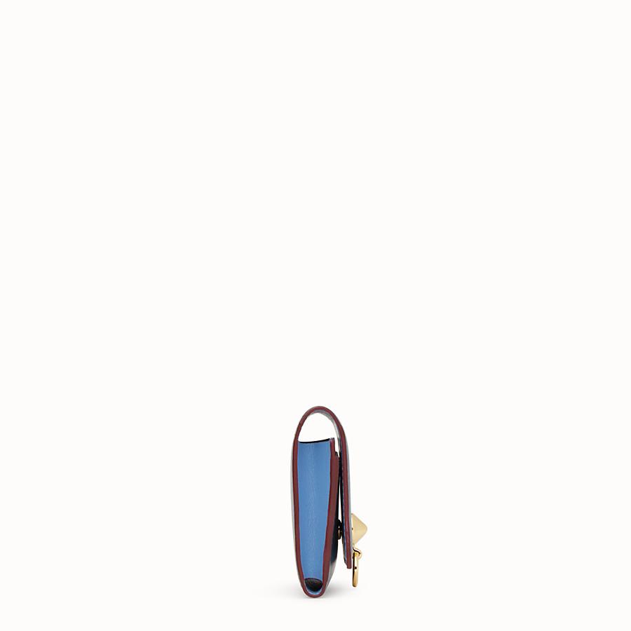 FENDI 카드 홀더 - 블루 컬러의 가죽 비즈니스 카드 홀더 - view 3 detail
