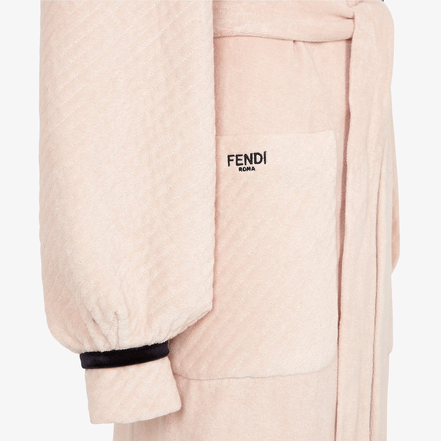 FENDI BATHROBE - Pink terry bathrobe - view 3 detail