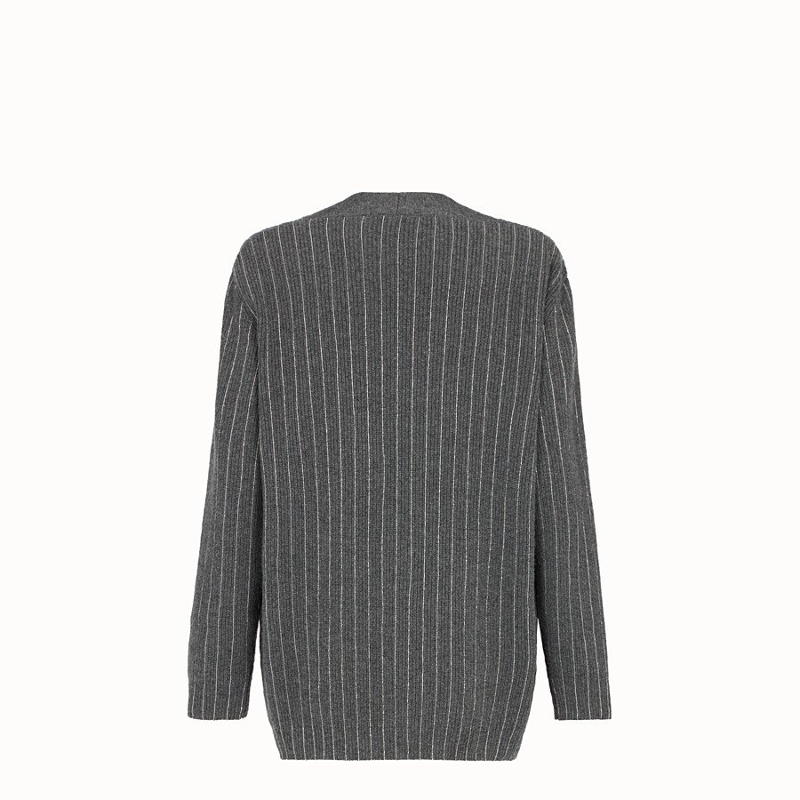 FENDI PULLOVER - Gray cashmere sweater - view 2 detail