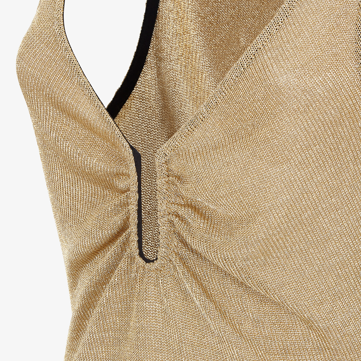 FENDI TOP - Gold Lurex top - view 3 detail