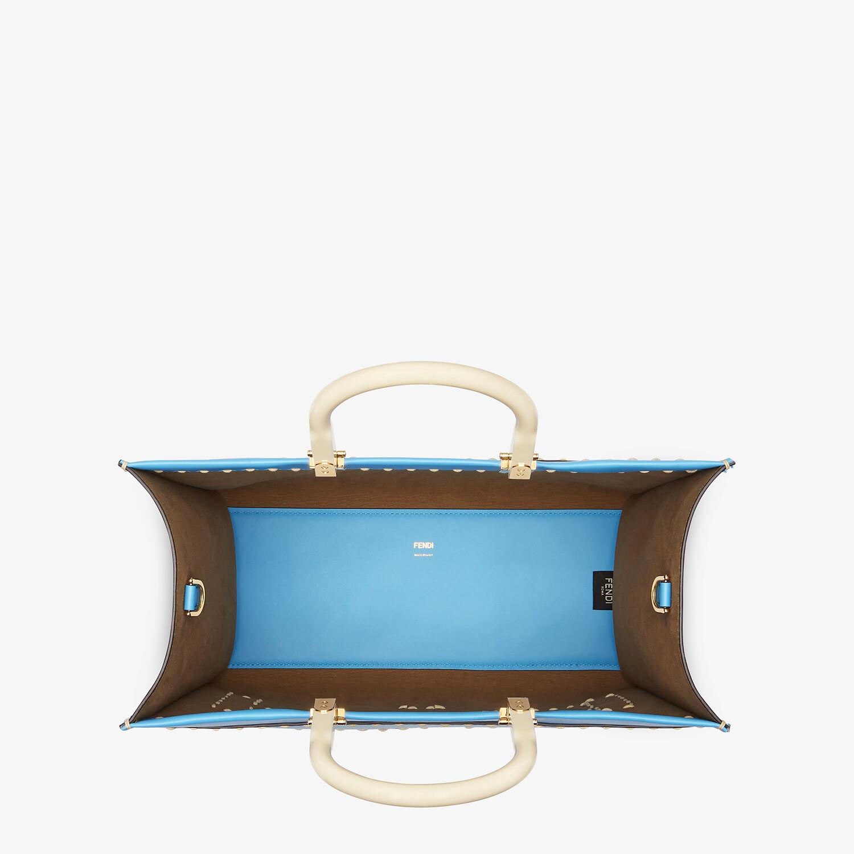 FENDI FENDI SUNSHINE MEDIUM - Blue leather shopper - view 5 detail