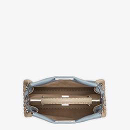 FENDI PEEKABOO ICONIC MEDIUM - Pale blue leather bag - view 5 thumbnail