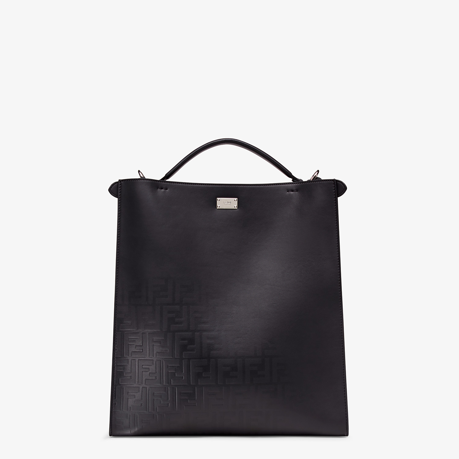 FENDI PEEKABOO X-LITE FIT - Black calfskin bag - view 4 detail