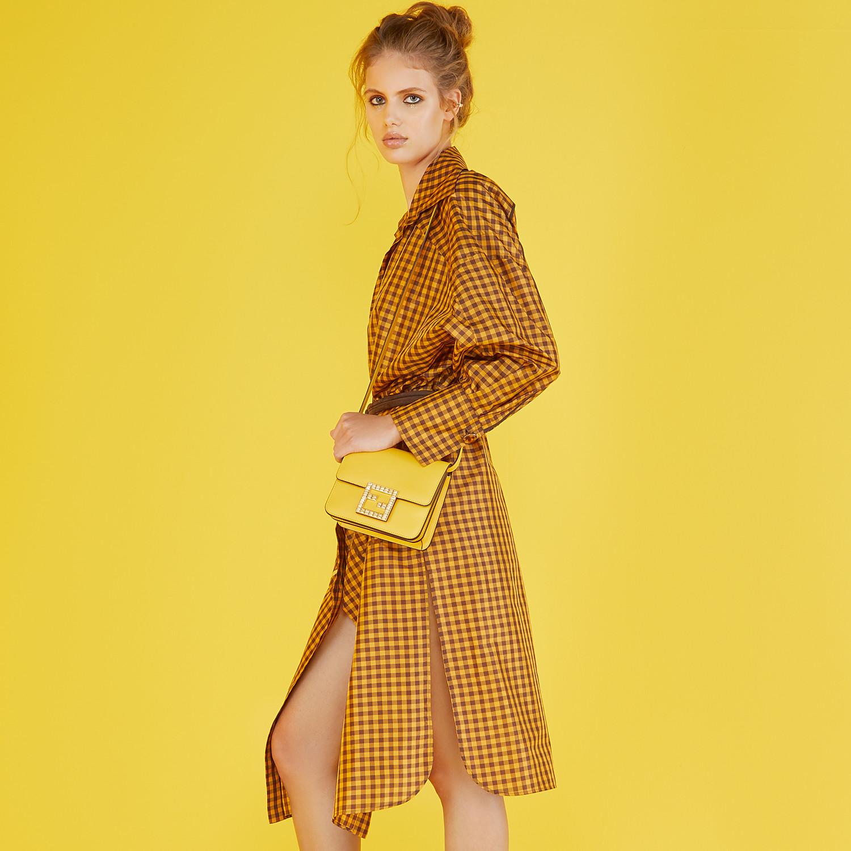 FENDI FENDI FAB - Small yellow leather bag - view 2 detail