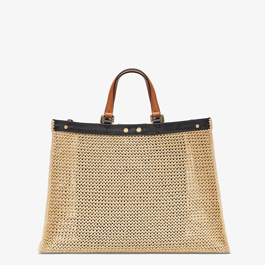 FENDI PEEKABOO X-TOTE - Natural raffia bag - view 3 detail