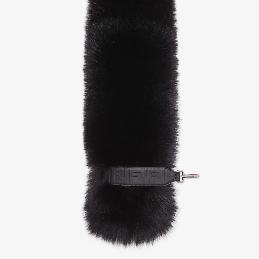 FENDI COLLAR - Black fox fur collar - view 2 detail