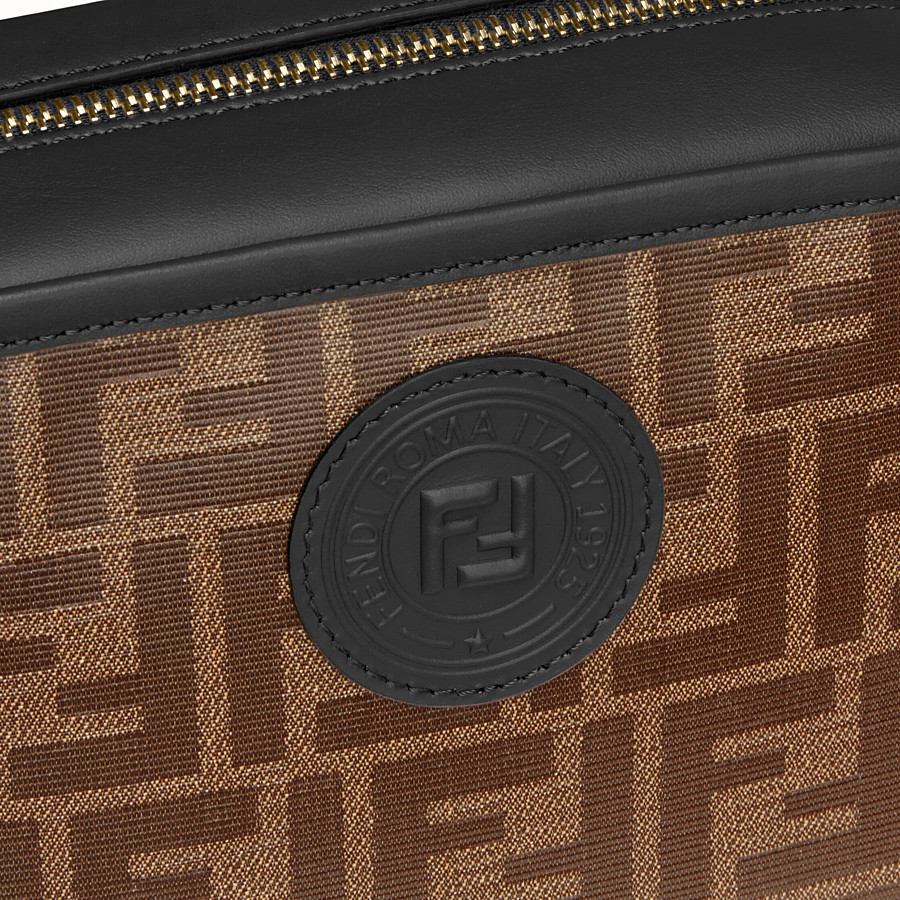 FENDI CAMERA CASE - Brown fabric bag - view 6 detail