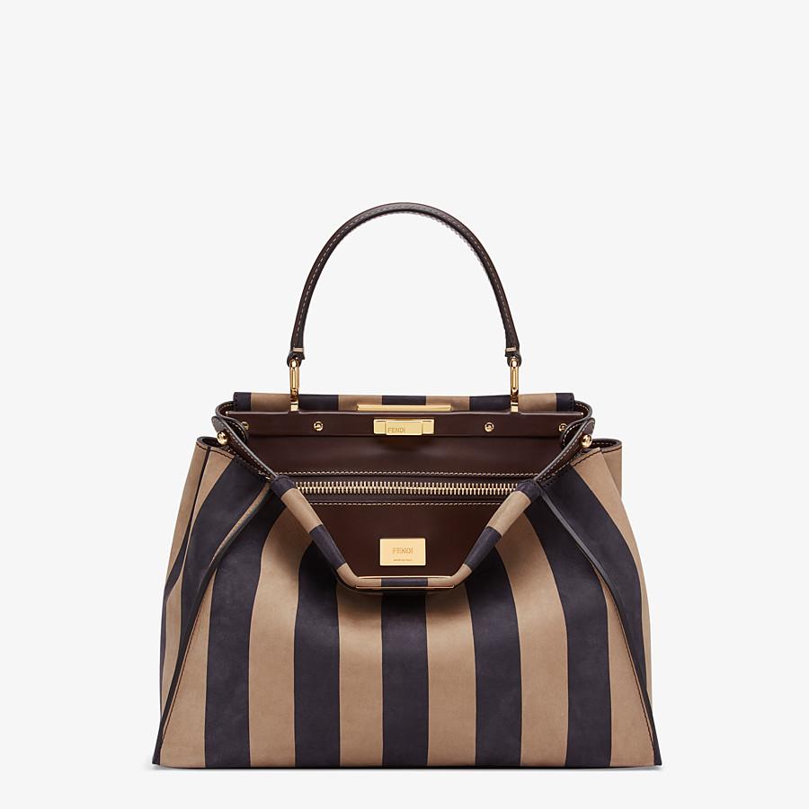 FENDI PEEKABOO ICONIC MEDIUM - Brown nubuck leather bag - view 1 detail