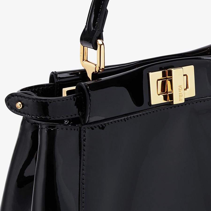 FENDI PEEKABOO ICONIC MINI - Black patent leather bag - view 6 detail