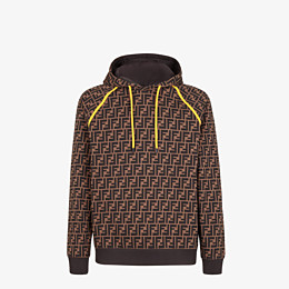 FENDI SWEATSHIRT - Brown cotton sweatshirt - view 1 thumbnail