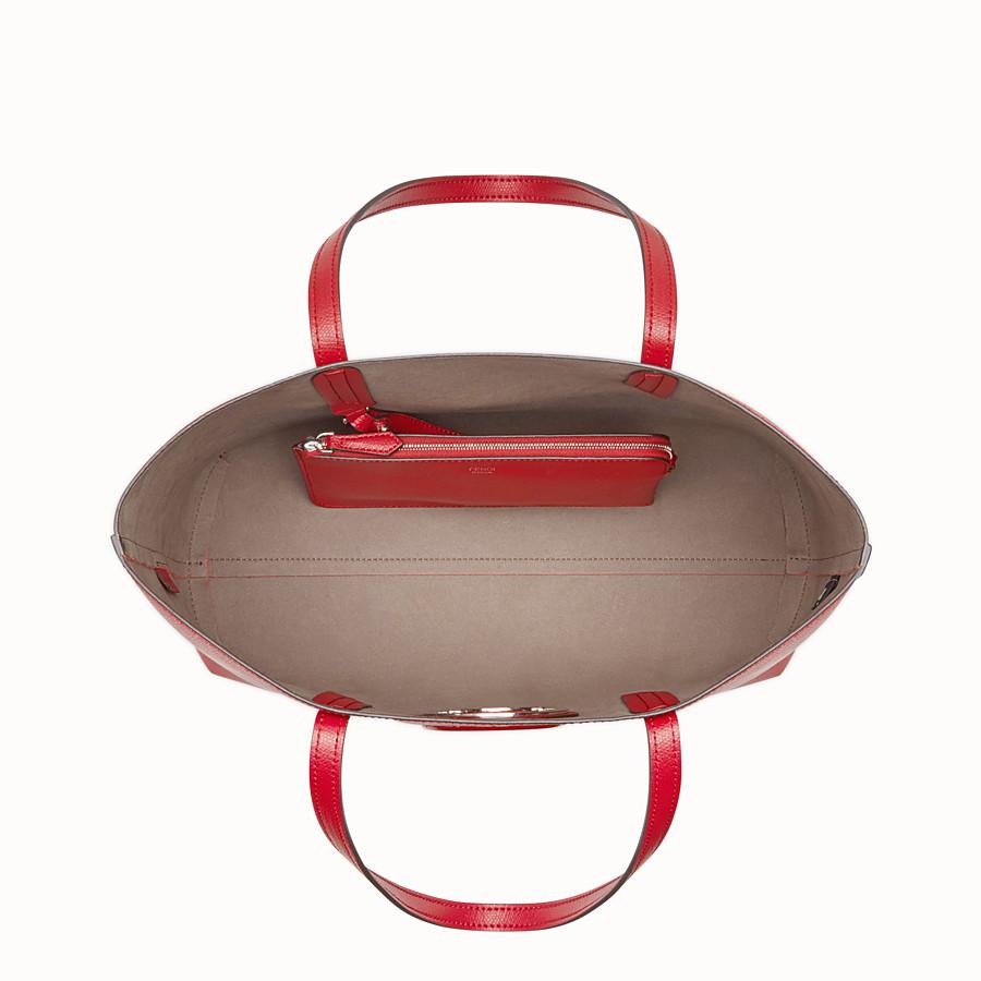 FENDI SHOPPER - Red leather shopper - view 4 detail