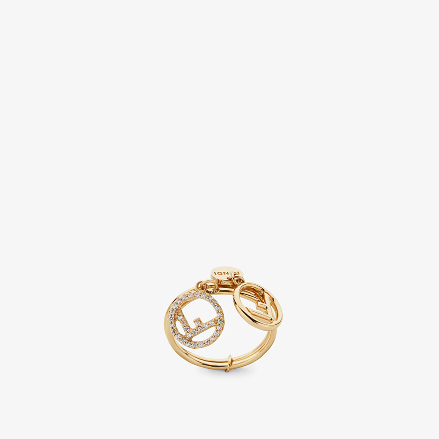 FENDI F IS FENDI RING - Gold colour ring - view 1 detail