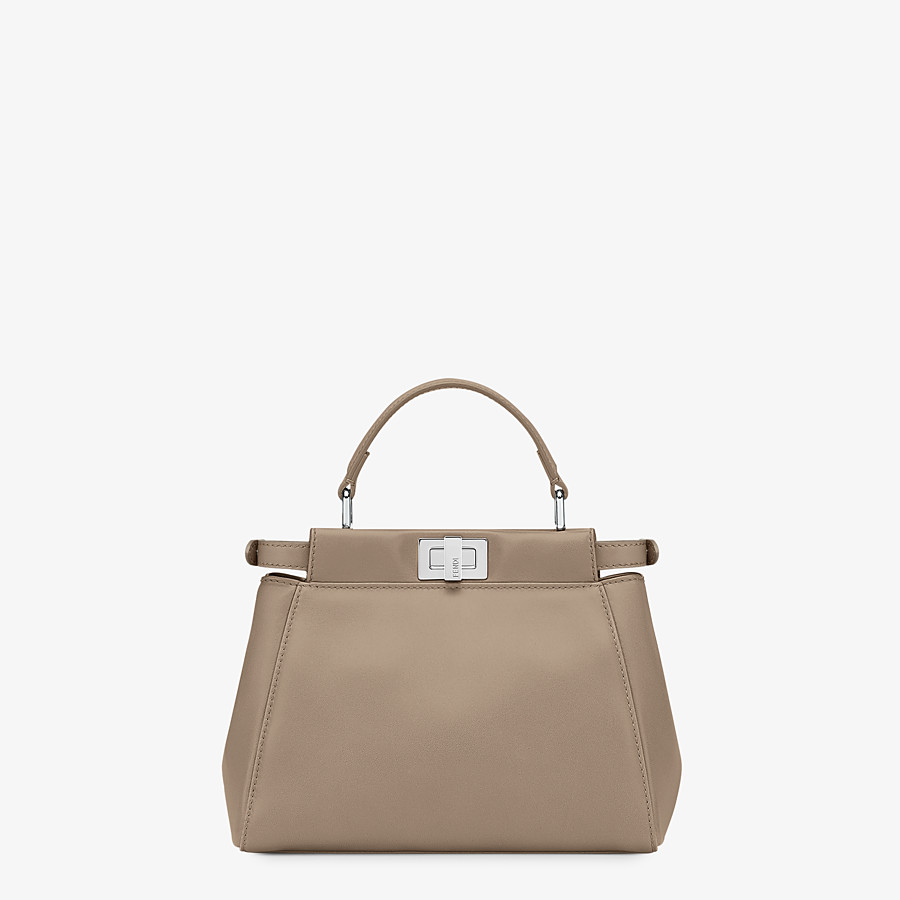 FENDI PEEKABOO ICONIC MINI - Handbag in dove grey nappa - view 3 detail