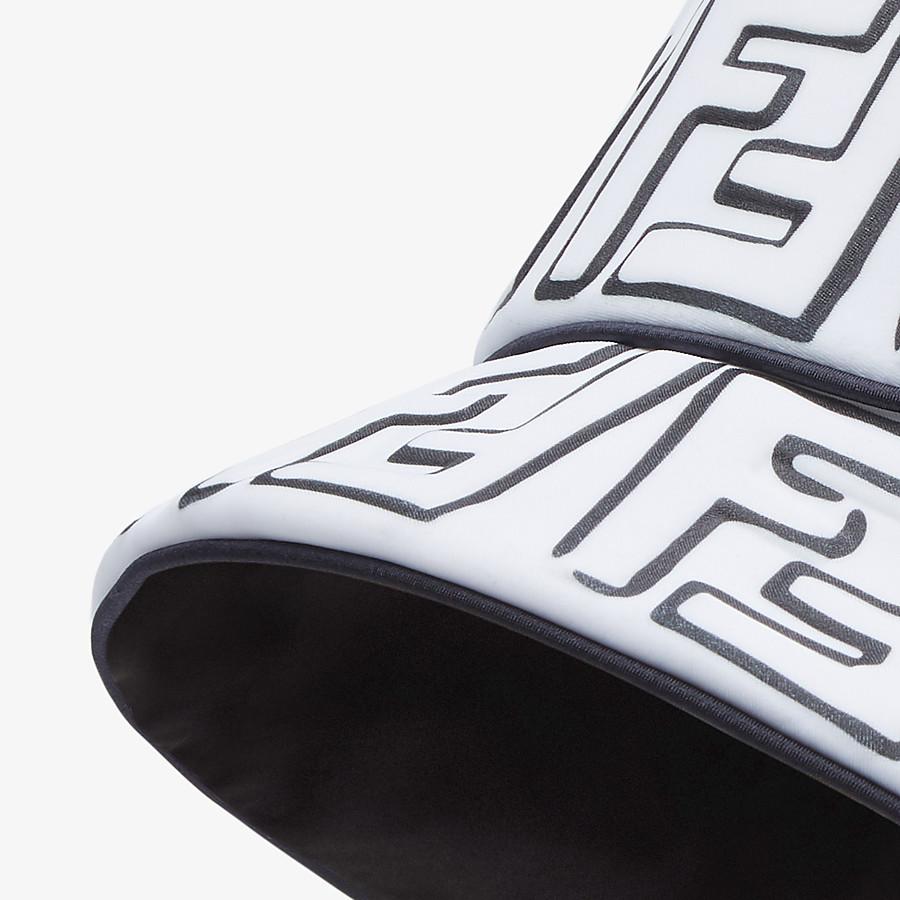 FENDI HAT - White Lycra® bucket hat - view 2 detail