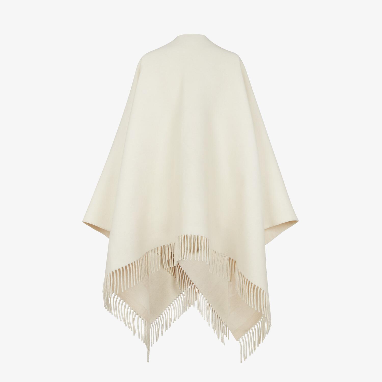 FENDI KARL PONCHO - White wool and cashmere poncho - view 2 detail