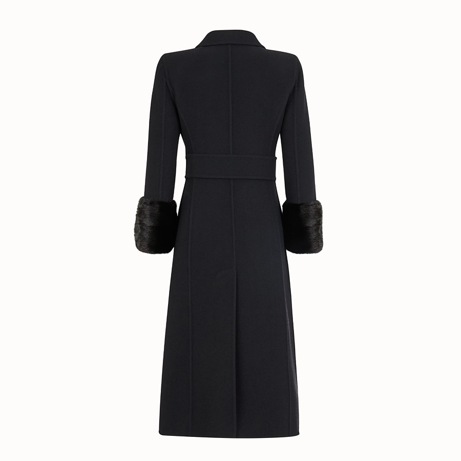 FENDI OVERCOAT - Black wool coat - view 2 detail