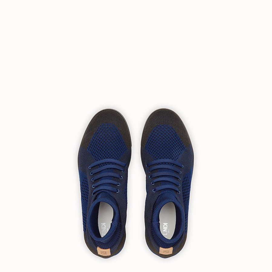 FENDI SNEAKERS - Multicolour knit slip-ons - view 4 detail