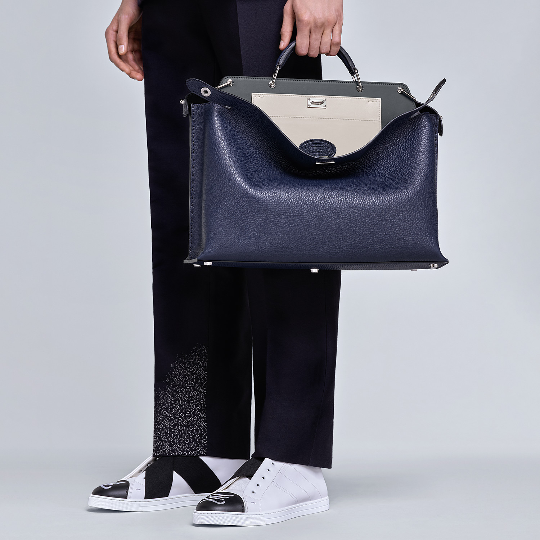 FENDI SNEAKERS - White leather slip-ons - view 5 detail