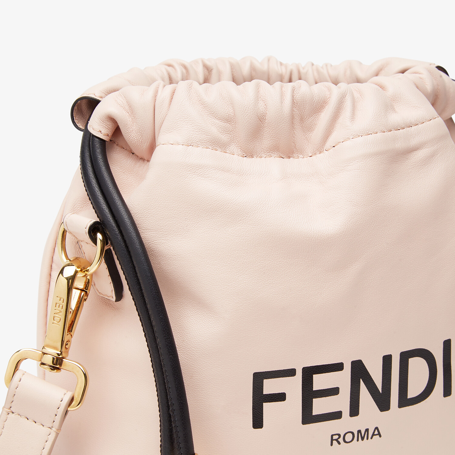 FENDI FENDI PACK SMALL POUCH - Pink nappa leather bag - view 6 detail