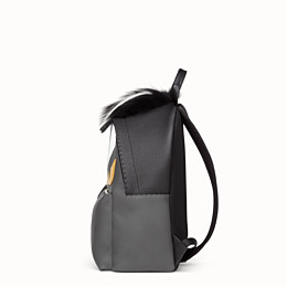2c0b0bb5680 in black and gray Roman leather - BAG BUGS BACKPACK   Fendi