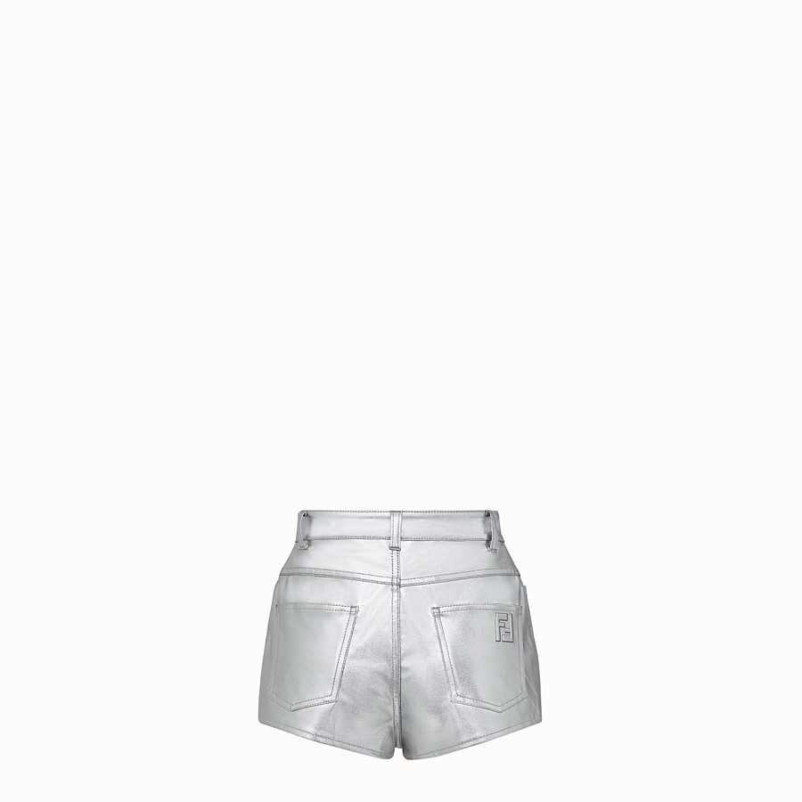 FENDI SHORTS - Fendi Prints On denim shorts - view 2 detail