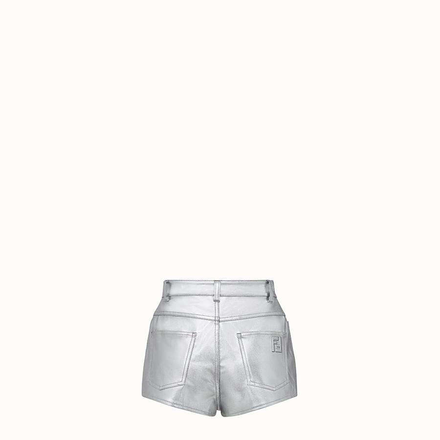 FENDI SHORTS - Fendi Prints On denim shorts - view 2 detail