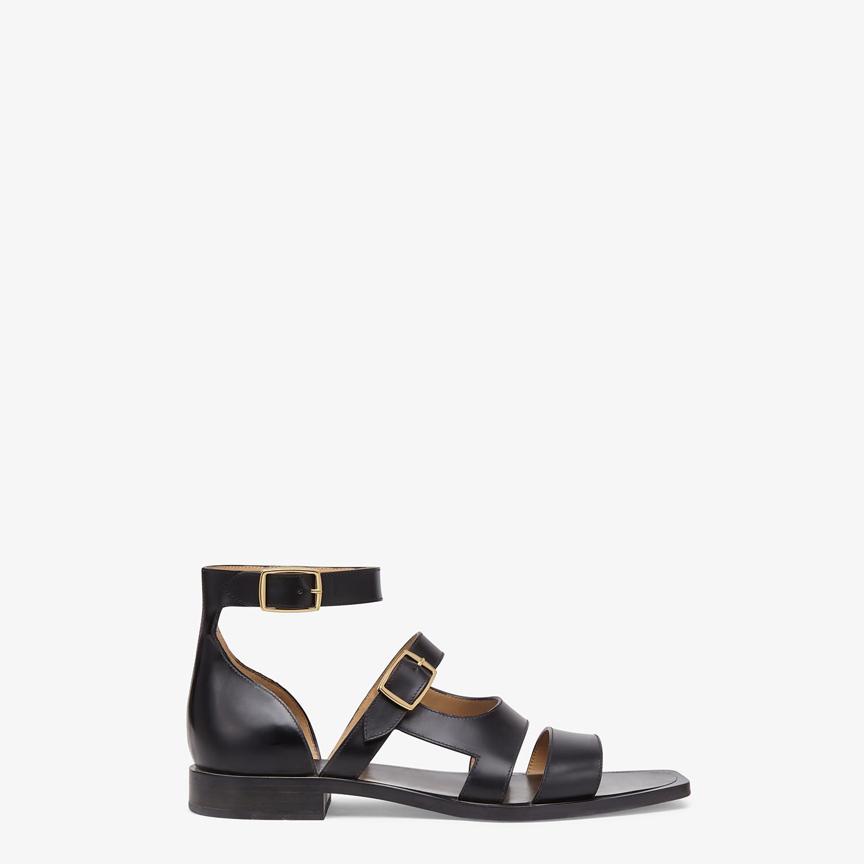 FENDI SANDALS - Black leather sandals - view 1 detail